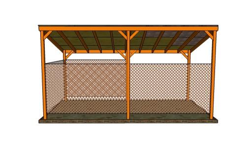 Plans Carport Lean 24x24