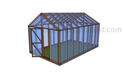Free greenhouse plans   HowToSpecialist   How to Build  Step by Step     12x16 Greenhouse Plans
