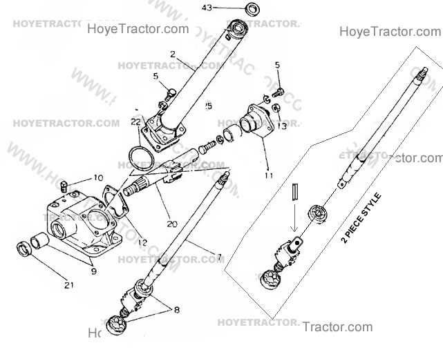 Ford 1600 Tractor Parts Diagram
