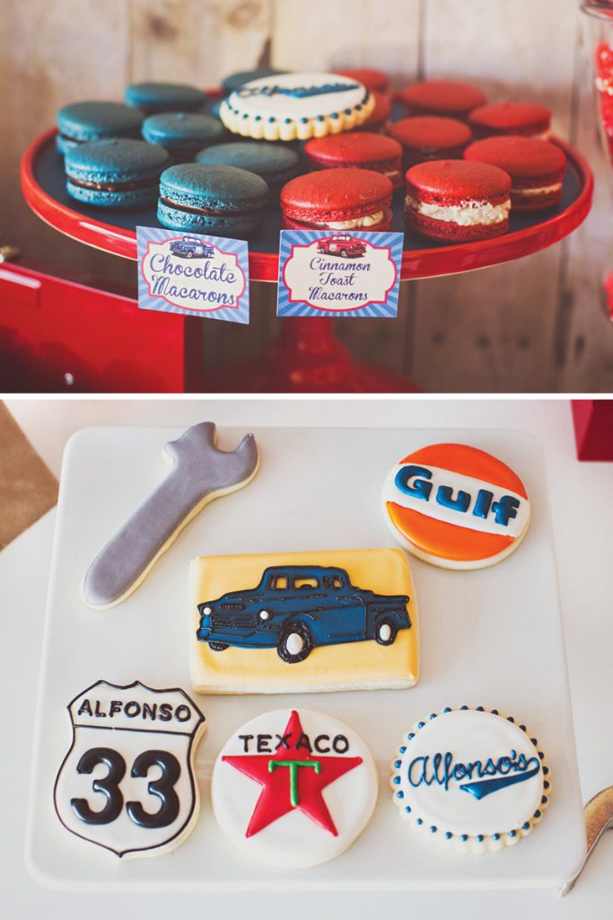 Vintage Garage Inspired Adult Birthday Party Hostess