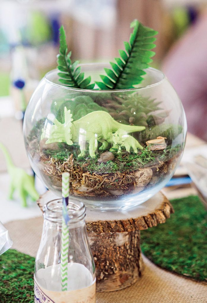 Rustic Modern Dinosaur Excavation Birthday Party