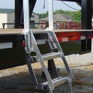 Drop Deck Trucker Semi Flatbed Ladder Portable