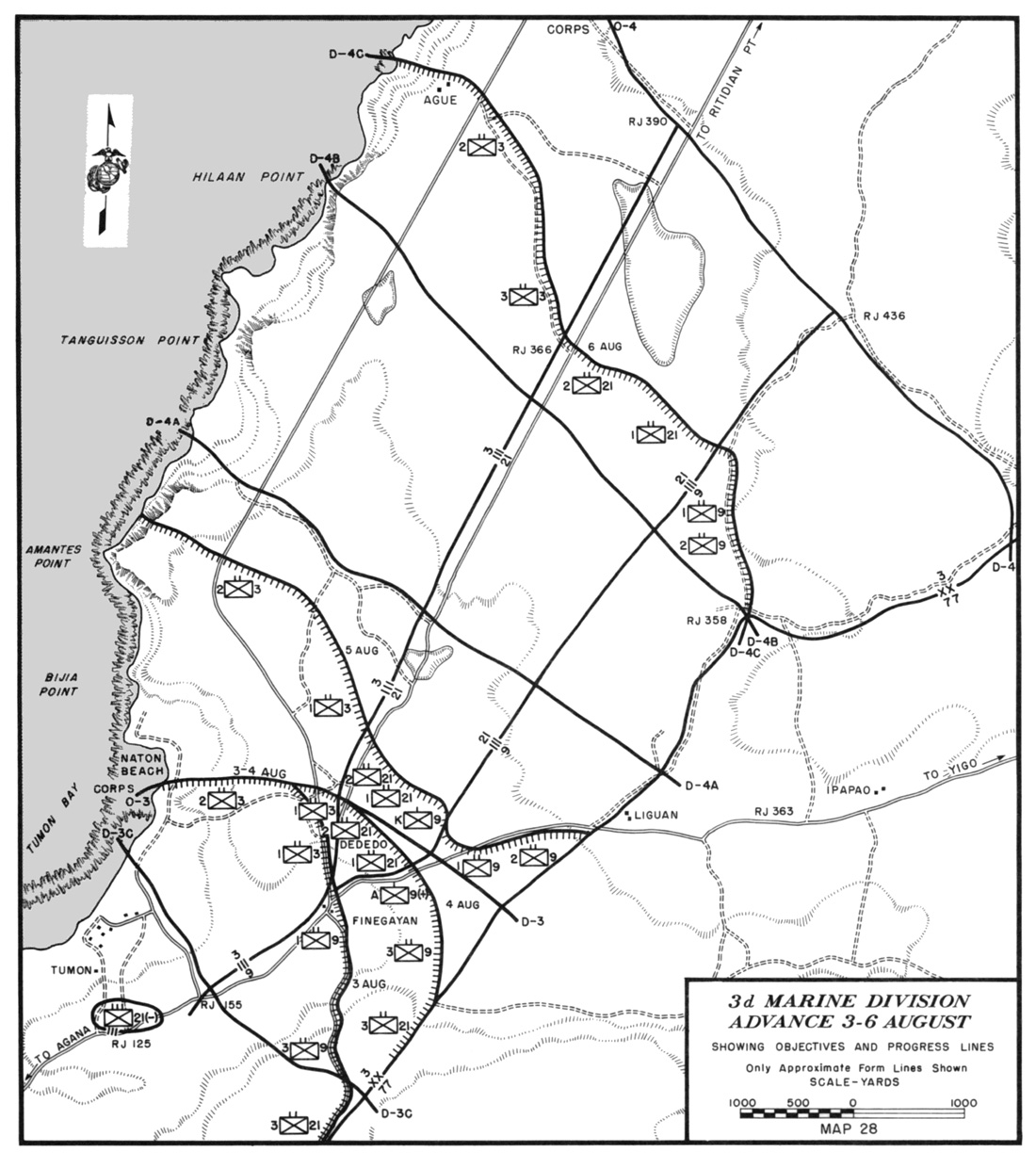 It followed the trail to the road that led to rj 358 where a 300 yard gap existed between the flanking marine and army battalions' defense perimeters