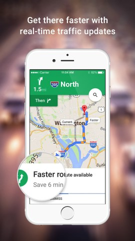 Google Maps App Gets Updated With Nearby Traffic Widget   iClarified     Google Maps App Gets Updated With Nearby Traffic Widget