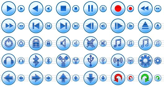 Previous Next Websites Icons