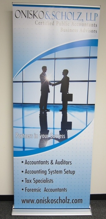 Custom Designed Banner And Stand Long Beach Ca