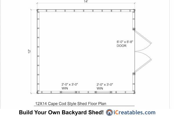 Kitchen Floor Plans 12x14