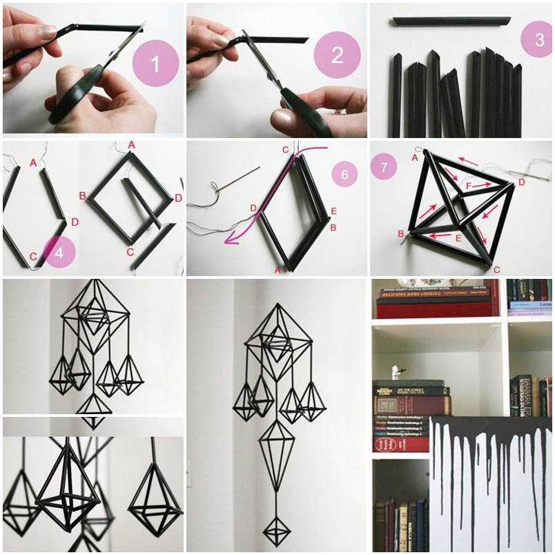 Diy Unique Hanging Decorations From Straws