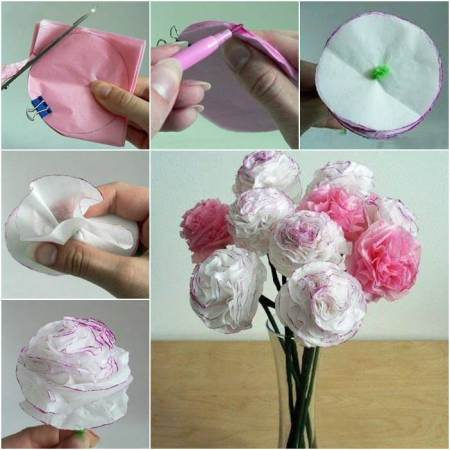Creative Ideas   DIY Beautiful Tissue Paper Flowers