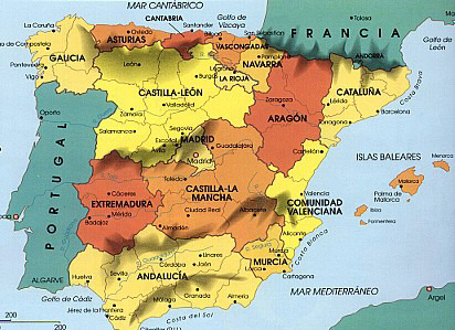 Geography of spain  regions of spain  spain maps  places in spain     click on the region you want to explore