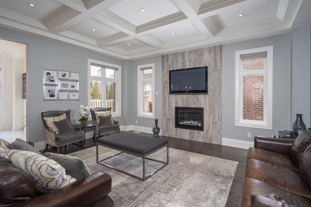 Beautiful Classic Style Suburban Home With Stone Fa 231 Ade
