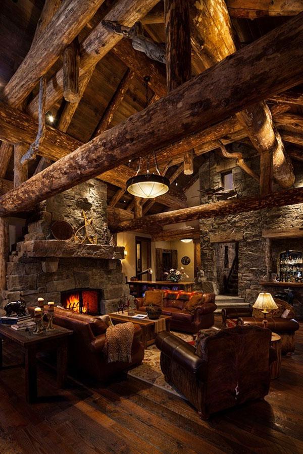 Old West Inspired Luxury Rustic Log Cabin In Big Sky