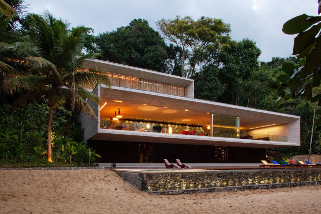 Best Kitchen Gallery: Modern Beach House On The Brazilian Coast Idesignarch Interior of Modern Beach House on rachelxblog.com