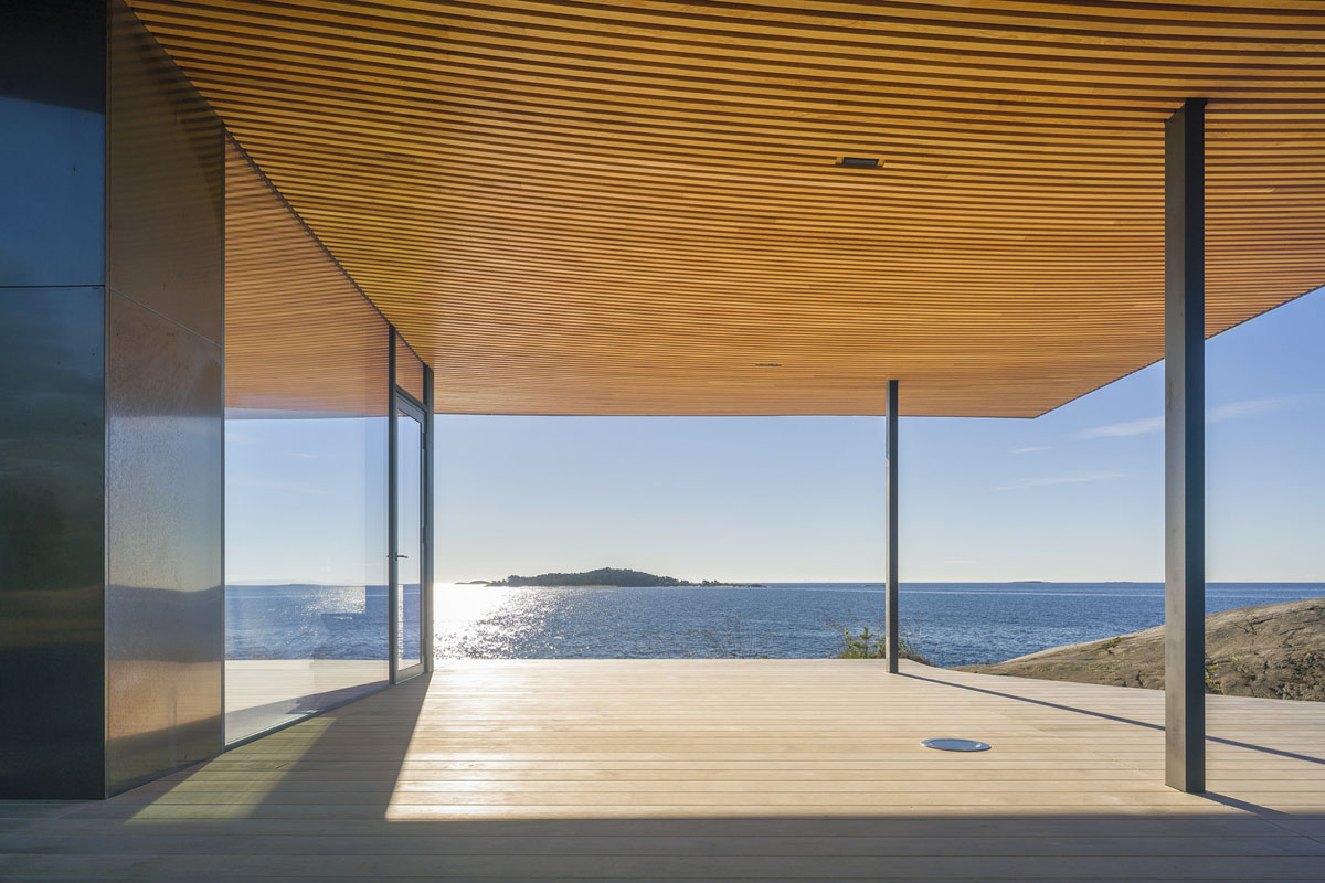 Modern Sea Front Summer Glass House In Finland