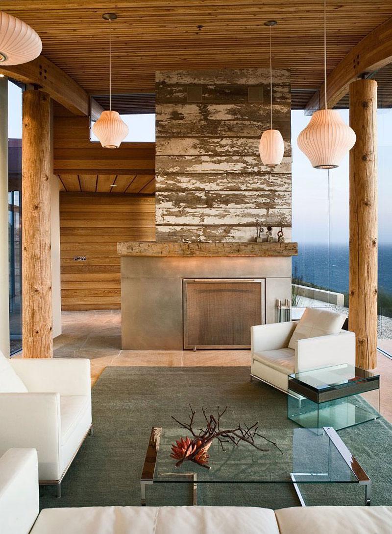 Rustic Modern House Overlooking The Ocean In Big Sur Idesignarch Interior Design