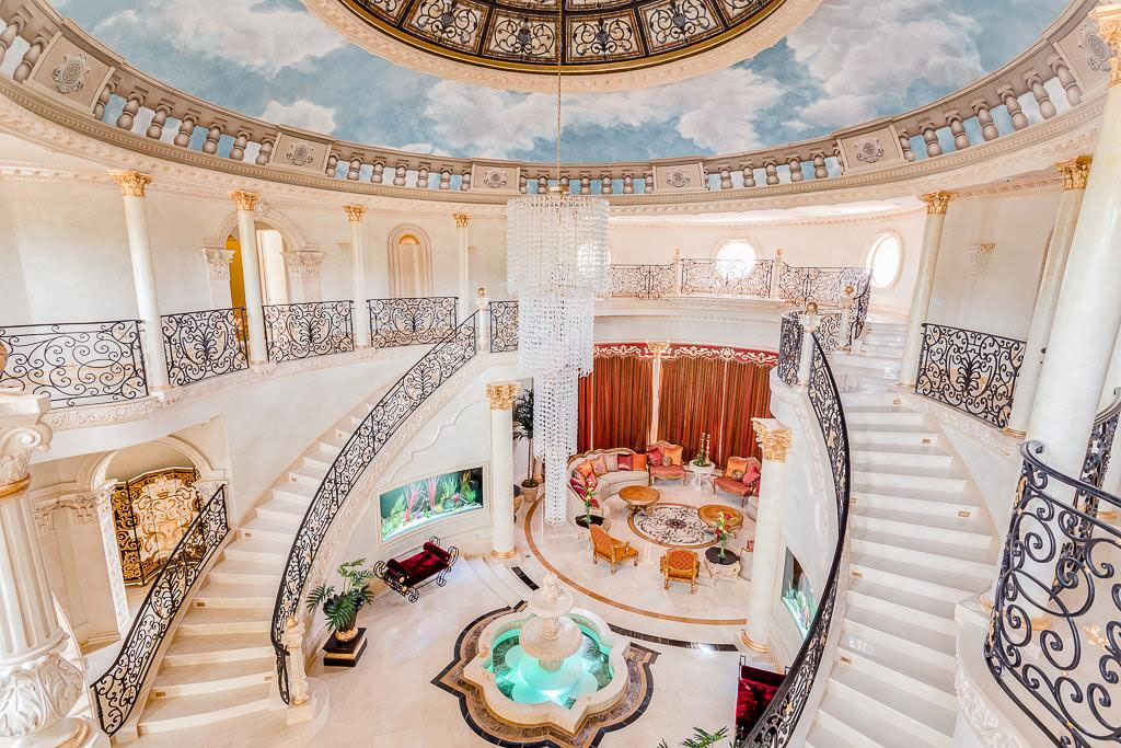 Beautiful Staircase Mansion Bedroom