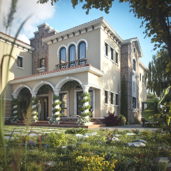 Tuscan Inspired Villa In Dubai   iDesignArch   Interior Design     Mediterranean Home Design