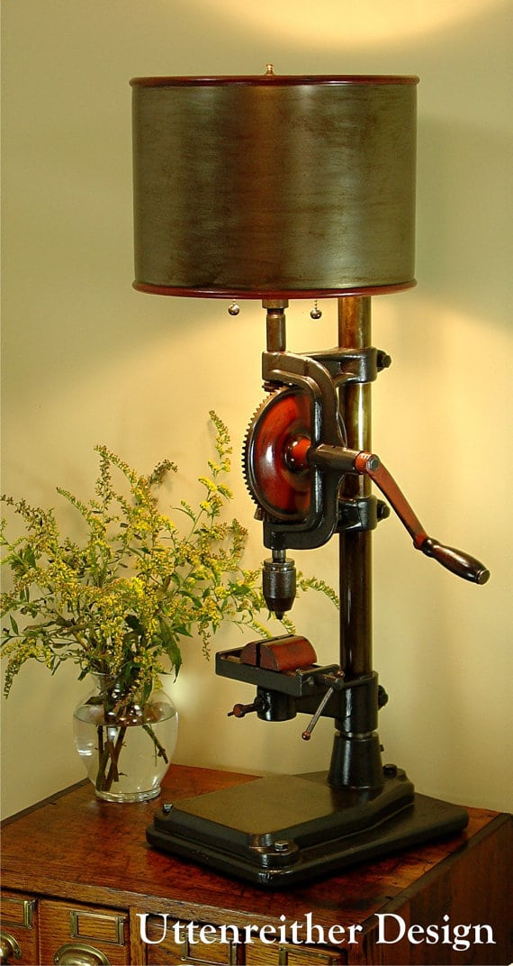 Industrial Drill Antique Table Lamp Id Lights