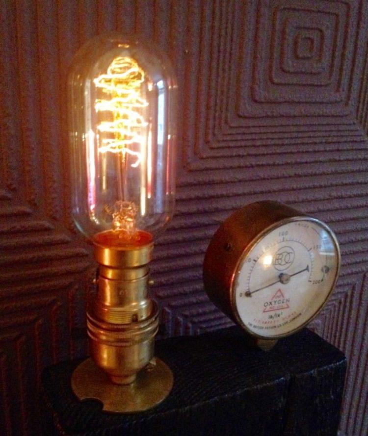 Edison Steampunk Rustic Antique Table Lamp Id Lights