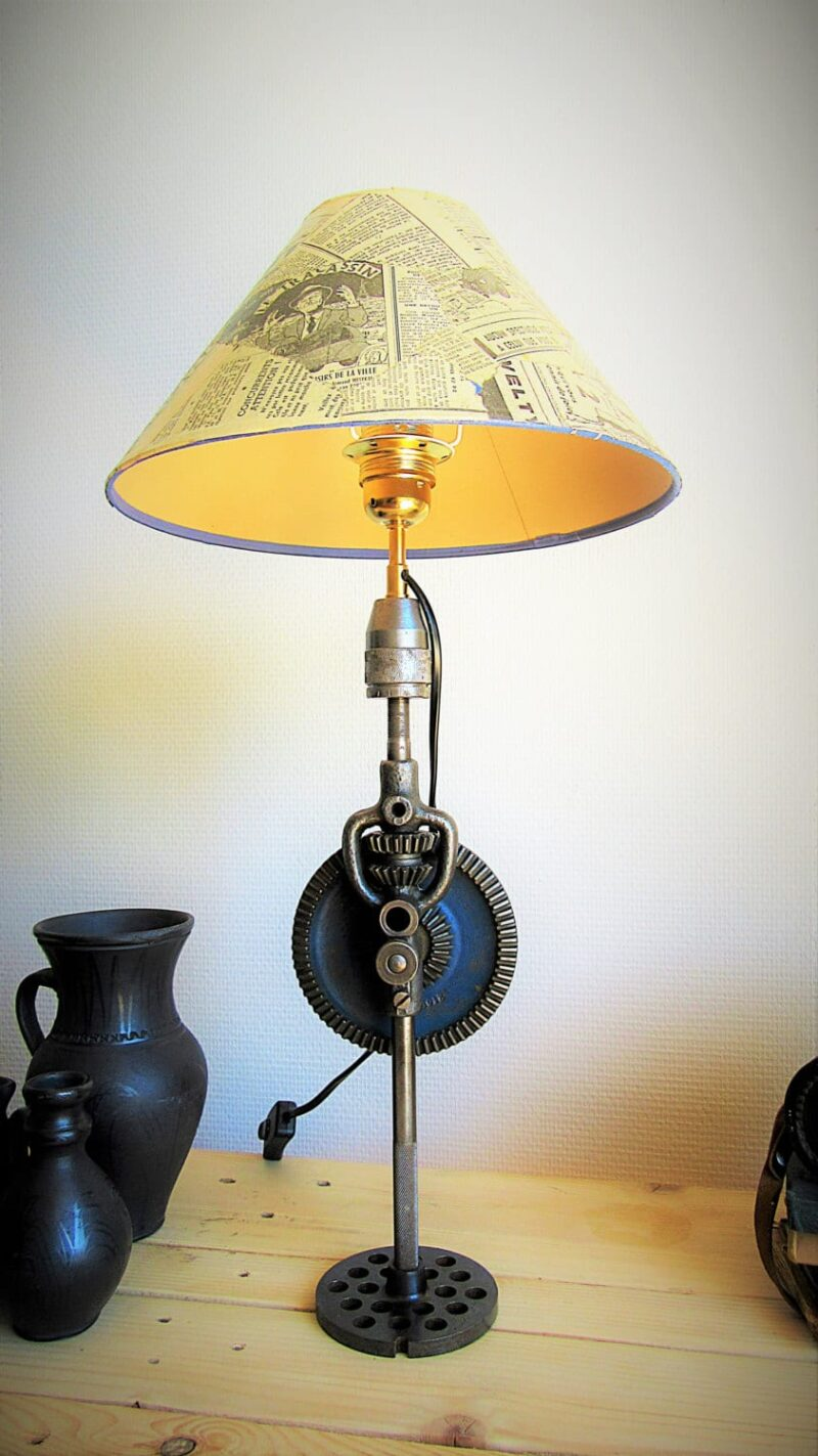 Lumimeca Recycled Steampunk Table Lamp Id Lights