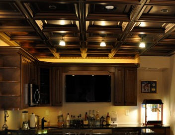 Drop Ceilings vs Drywall for Finishing Your Basement cool dropped ceiling