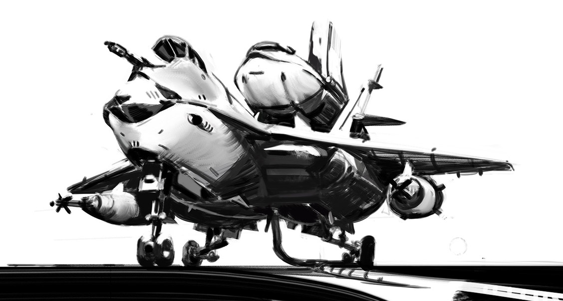 Sci Fi Aircraft Drawing