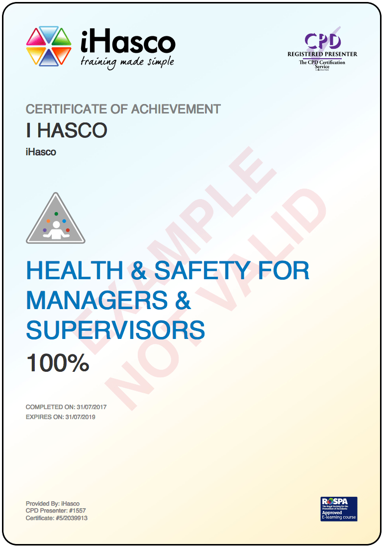 Health and Safety Training for Managers & Supervisors | iHasco