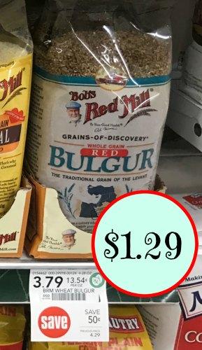 Bob's Red Mill Deals At Publix - Red Bulgur Just $1.29