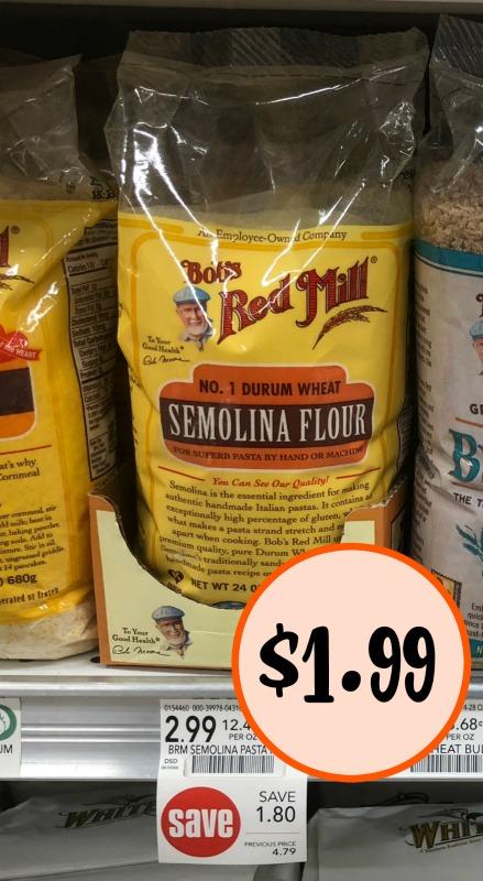 Bob's Red Mill Semolina Flour - Just $1.99 At Publix