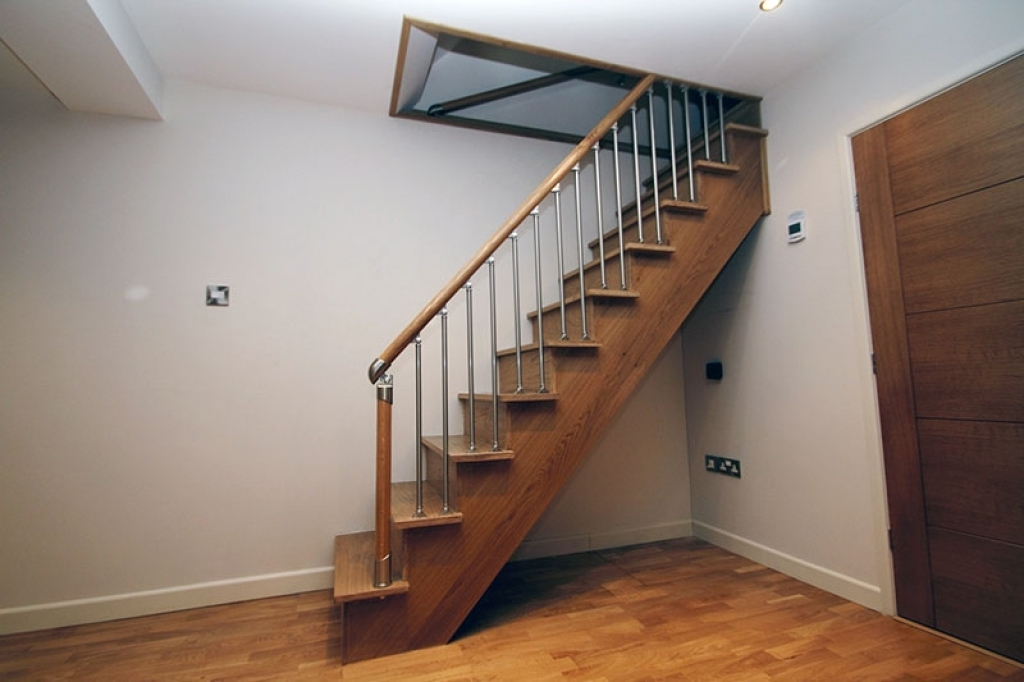 Home Basement Stairs Excellent On Home For Stair Stringers By Fast | Basement Stairs With Landing | English Basement | Grand Entrance | Spiral | Wood | Hardwood