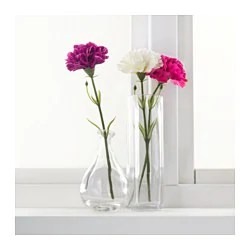 SMYCKA Artificial flower   IKEA SMYCKA Artificial flower  carnation  white