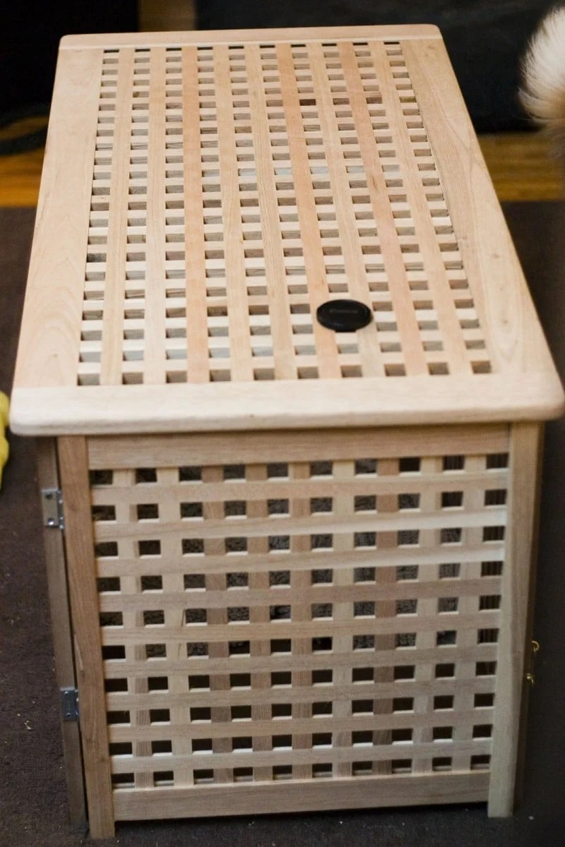 A Tasteful Dog Crate You Don T Have To Hide Ikea Hackers