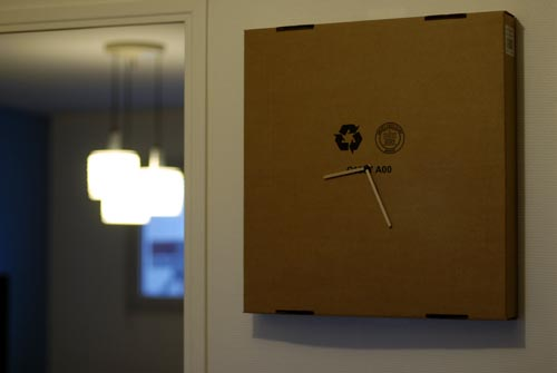 Ikea Cardboard Clock Ikea Hackers Ikea Hackers