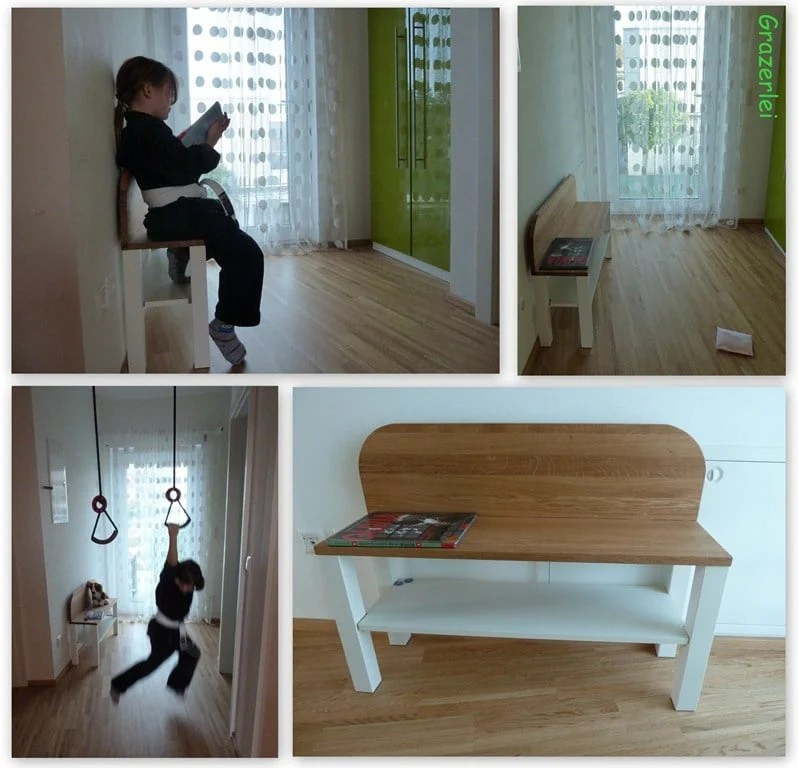 Bench Easily Made From Lack Table Ikea Hackers Ikea