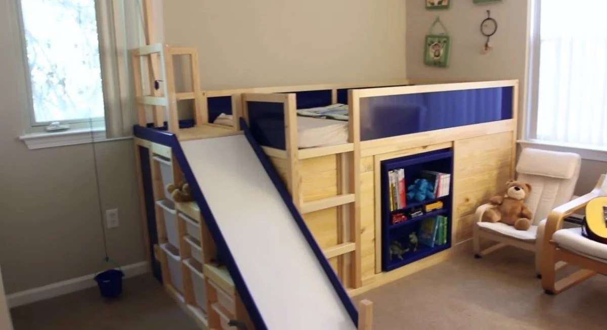 Kura Transformed Into Bed Play Structure Combo