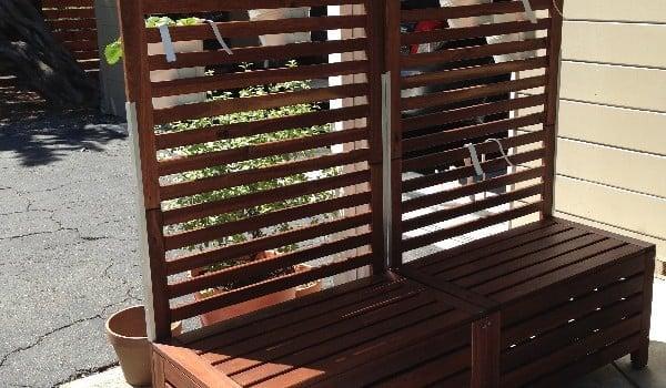 Applaro Free Standing Bench And Trellis Hack Ikea