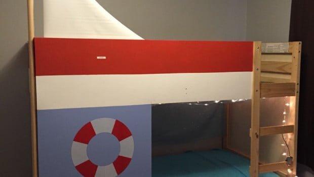 Mydal Bed Turned Sailboat Bed Ikea Hackers Ikea Hackers