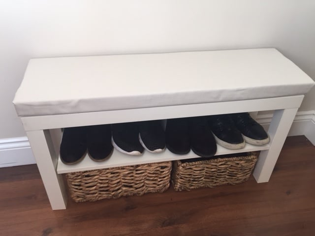 Turn A 163 7 Lack Tv Unit Into A Hallway Bench Ikea Hackers