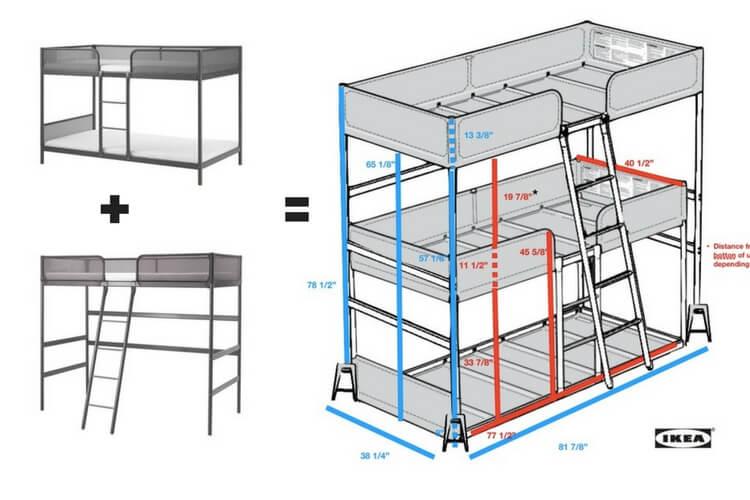 Triple Bunk Bed Diy Ikea Hackers Ikea Hackers