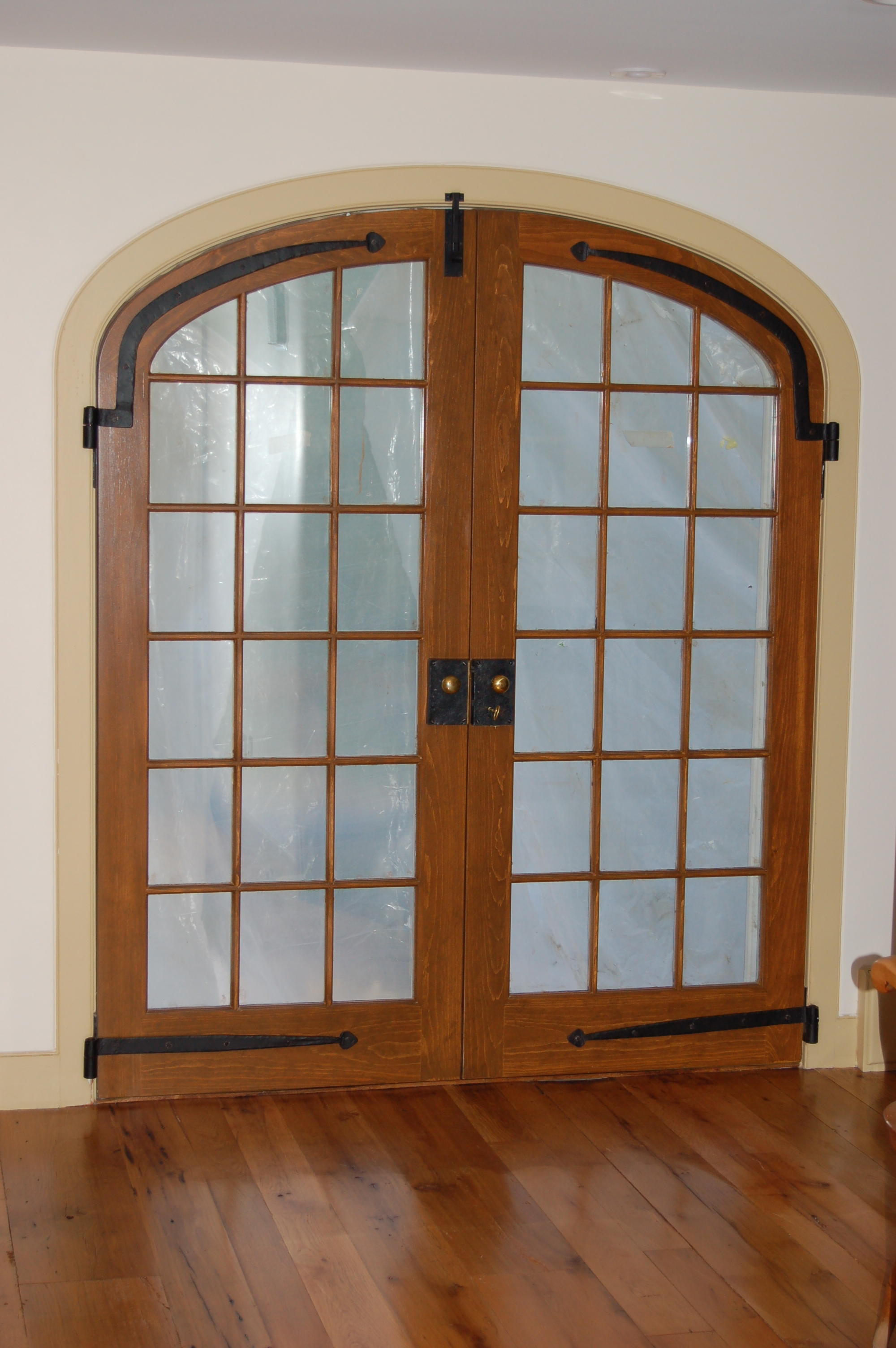 Arched French Doors Interior