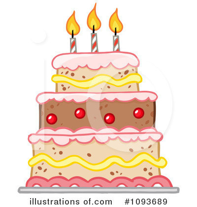 Birthday Cake Clipart 1093689 Illustration By Hit Toon