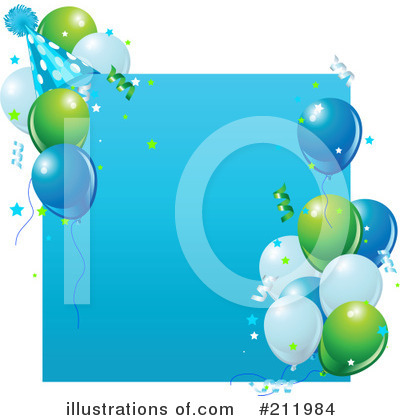 Party Balloons Clipart 223790 Illustration By Pushkin