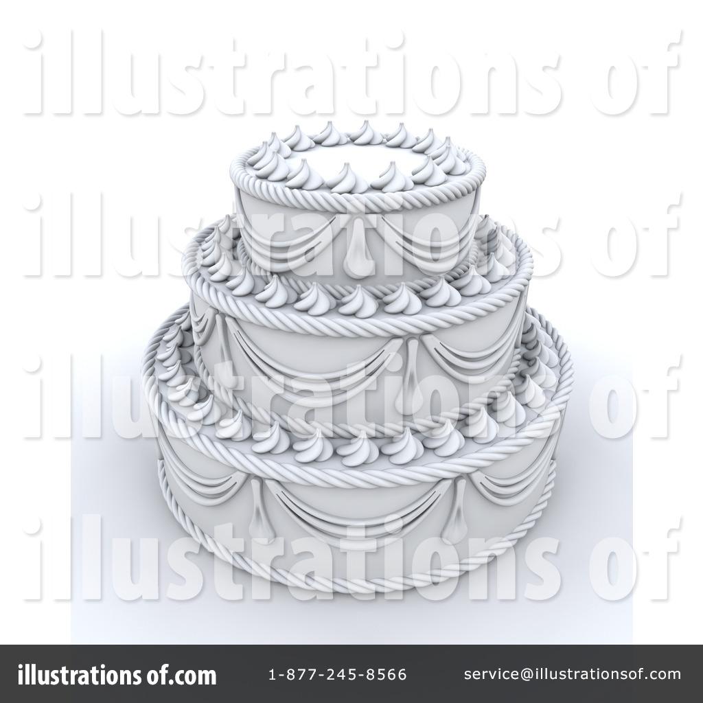 Chef Decorating Cake Clip Art
