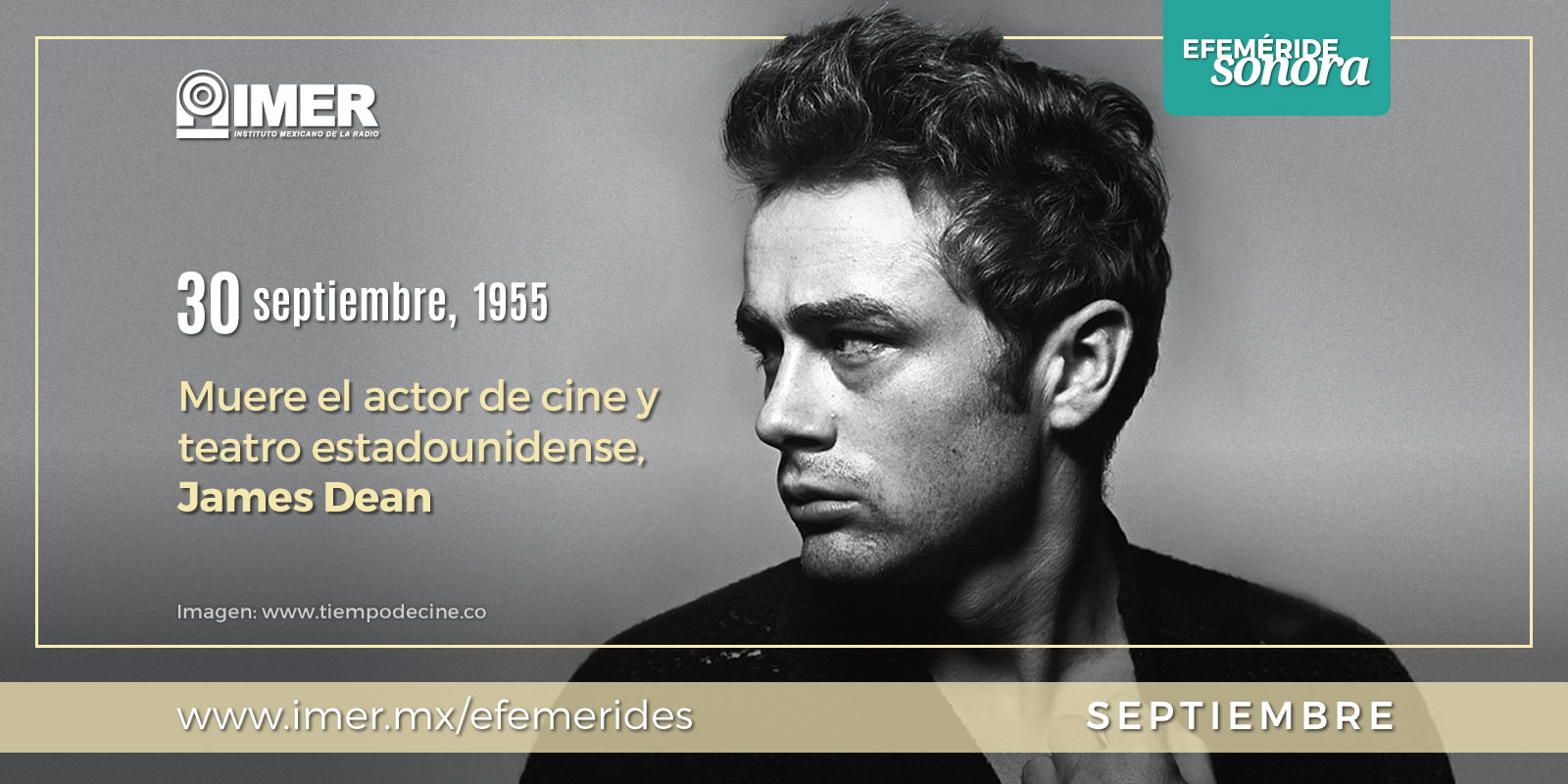 30 de septiembre de 1955 muere el actor James Dean – IMER