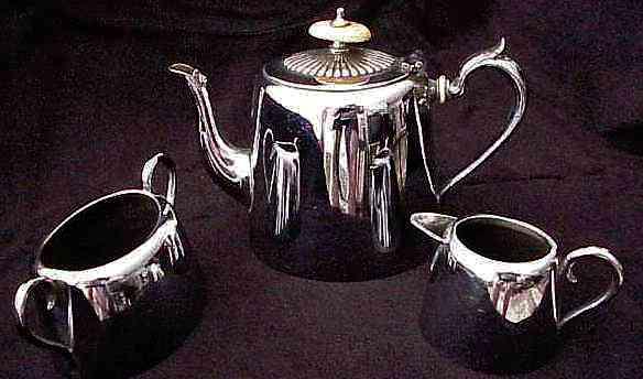 Set Silver Tea Epns Plated