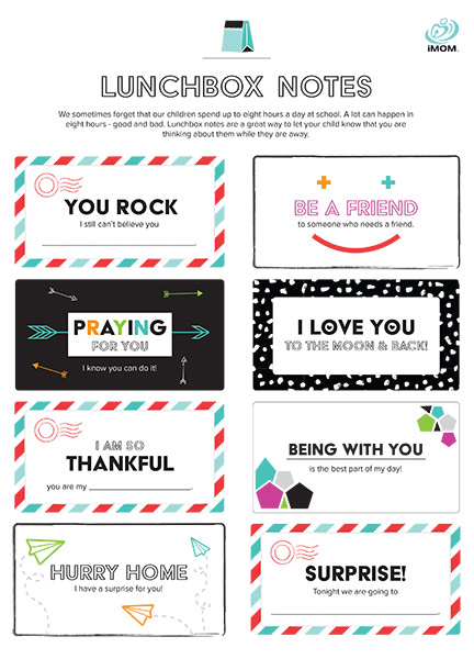 Lunchbox notes elementary imom, i love you printable coloring pages