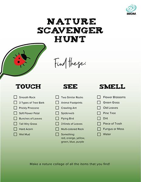 Nature Scavenger Hunt Imom