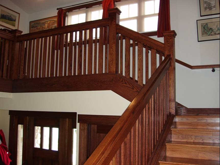 Tell Me About Your Stair Railing Newal Post Balusters 2Peas   Craftsman Style Newel Post   Shaker   Construction   Colonial Elegance   Antique   1930 Style