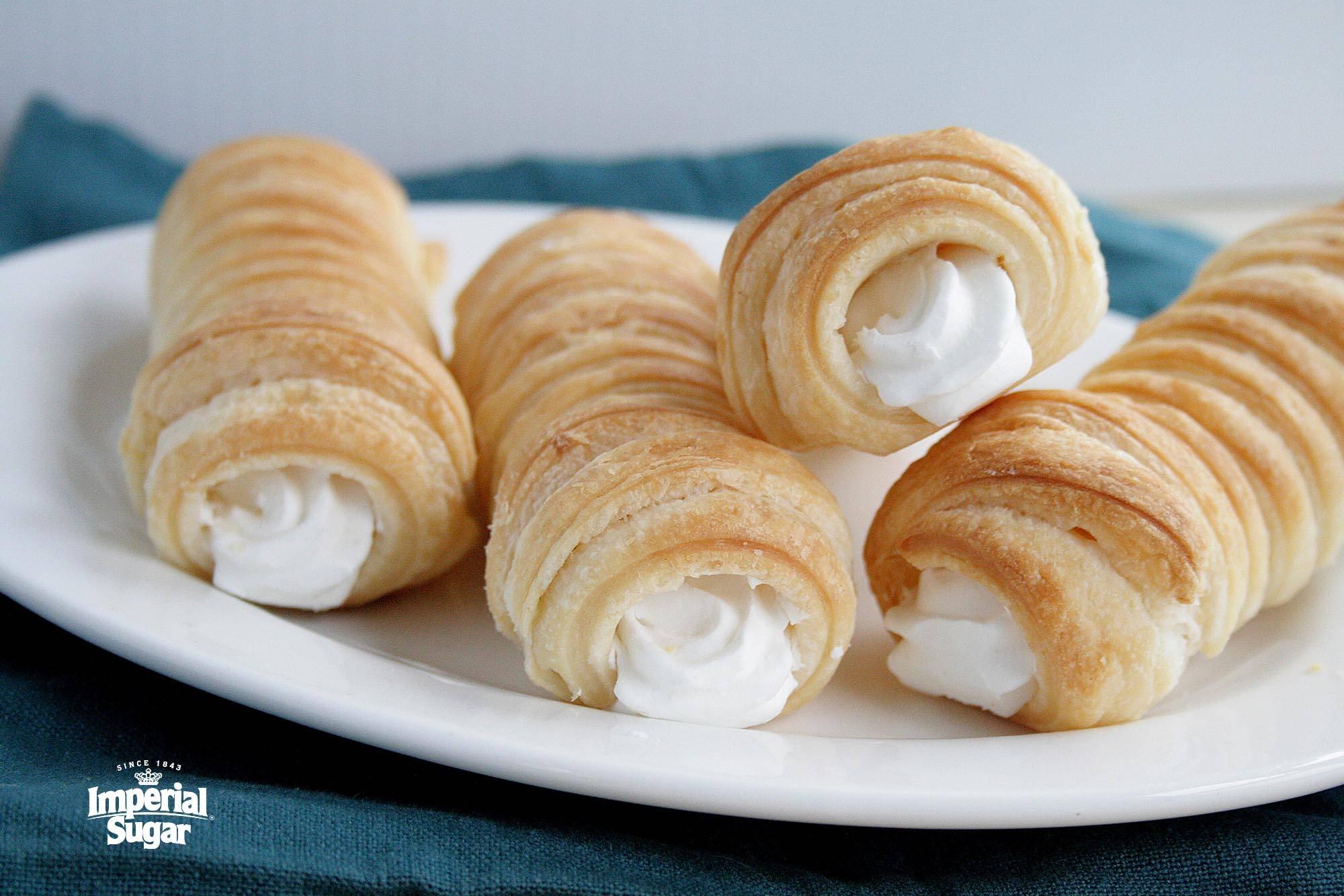 Puff Pastry Cream Horns | Imperial Sugar