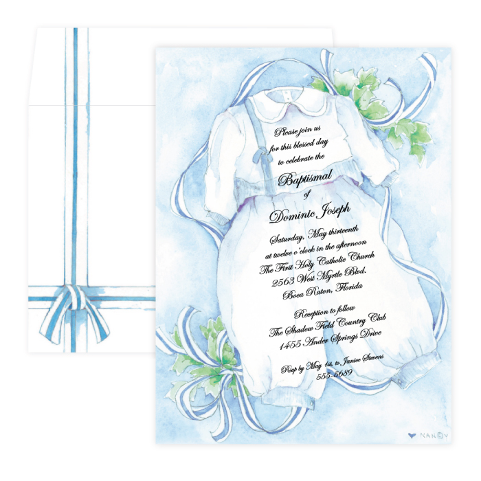 Invitation Christening Boys